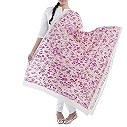 Kiara Crafts Women's Dupatta (kc-019_Pink_Freesize)