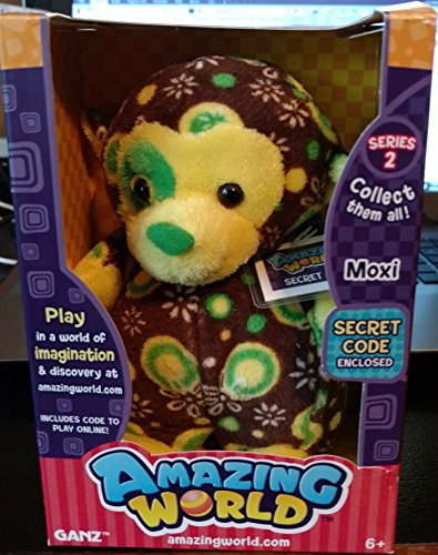 Amazing World Series 2 Moxi the Monkey Interactive Plush Toy - 5.5