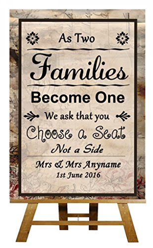 Vintage Chic Pick A Seat Not A Side Personalized Wedding Sign (Pick A Side Sign compare prices)