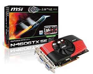 MSI N460GTX -M2D1GD5/OC nVidia GeForce GTX 460 1 GB PCI-Express Video Card