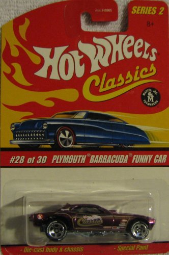 Hot Wheels Classics Series 2 #28 of 30 Plymouth Barracuda Funny Car PURPLE 1:64 Scale - 1