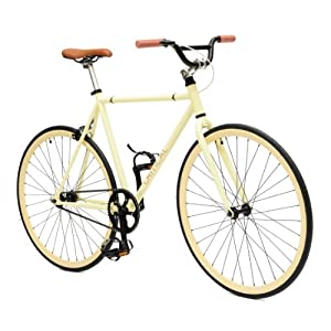 Critical Cycles Fixed Gear Single Speed Fixie Urban Road Bike (Tan, Large)