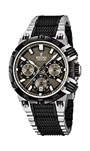 Festina Herren-Armbanduhr XL Chrono Bike 2014 Analog Quarz verschiedene Materialien F16775/3