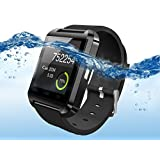 Black Waterproof Bluetooth Wrist Smart Watch Phone Mate Handsfree Call For Smartphone Outdoor Sports Pedometer Stopwatch