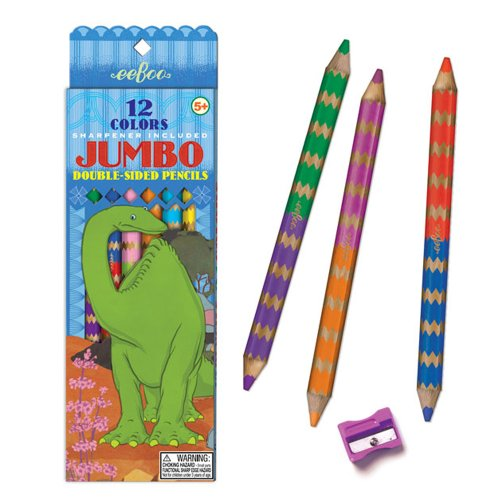 eeBoo Dinosaur 6 Double Sided Pencils