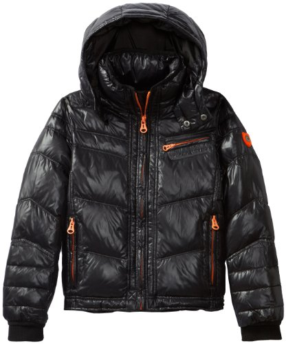 Diesel Boys 8-20 Jussy Nylon Down Hooded Jacket,