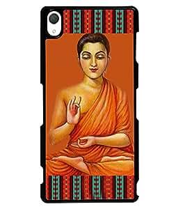 PRINTVISA Bhudha Premium Metallic Insert Back Case Cover for Sony Xperia Z3 - D5895