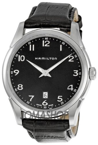 Hamilton Men's H38511733 Jazzmaster Thinline Black Dial Watch