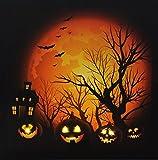 Oak Street Wholesale Halloween Woods LED Lighted Haunted Mansion Canvas Wall Art