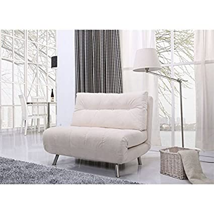 Gold Sparrow Tampa Fabric Convertible Sofa in Ivory
