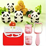 Yunko New Bento Accessories Rice Ball Mold Mould with Nori Punch Sushi Panda Shape