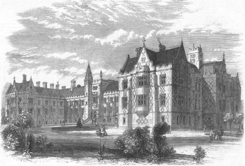 London: Hospital For Tb & Chest Diseases, Brompton, Antique Print, 1865