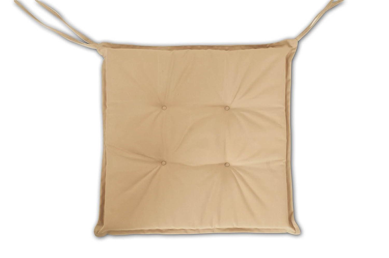 Stuhlauflage Gartenstuhl Klappstuhl beige Gummiband Polyester waschbar