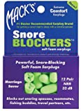 Mack's Snore Blockers Soft Foam Earplugs 12 pr