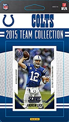 Indianapolis Colts 2015 Score Factory Sealed NFL Football Complete Mint 13 Card Team Set Including Andrew Luck and Others