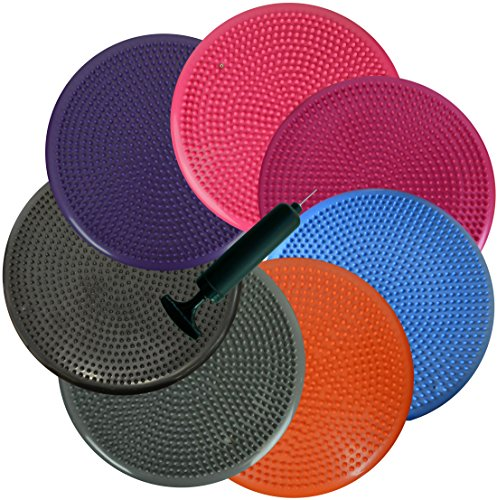 inflated-stability-wobble-cushion-exercise-fitness-core-balance-disc-black13-inches-33-cm-diameter