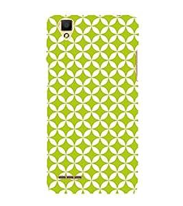 Green Self Design 3D Hard Polycarbonate Designer Back Case Cover for Oppo F1
