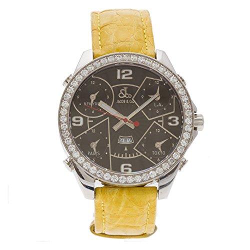 jacob-co-five-time-zone-analog-quartz-black-mens-watch-jc2-certified-pre-owned