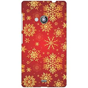 Nokia Lumia 535 red starry Phone Cover - Matte Finish Phone Cover