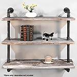 Diwhy Shelves Industrial Shelf with Pipe DIY Retro Wall Mount Iron Pipe Shelf Storage Shelving Bookshelf (36)