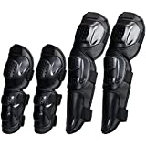 Tera  P06 Adults Fashion 4Pcs Kit of Elbow Knee Shin Armor Protect Guard Pads Accessories Flexible Breathe Freely for Motorcycle Motocross Racing