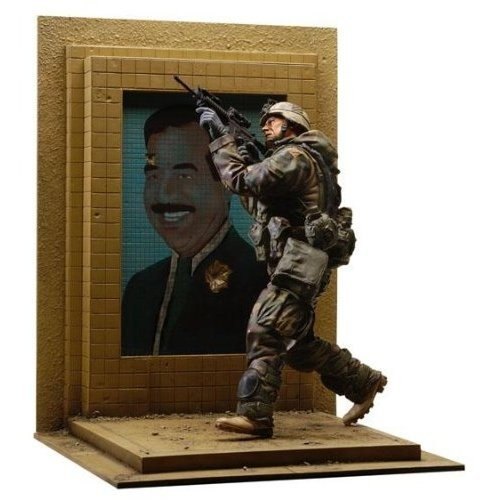 Buy Low Price Dusty Trail U.S. Army 3rd I.D. Action Figure w Bullet Riddled Saddam Hussein Mosaic Base by Dusty Trail Toys (B000HE9S48)