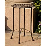 Mandalay Outdoor Iron Side Table - Round
