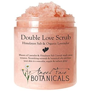 Double Love Body Scrub with Himalayan Salt & Organic Lavender Essential Oils from Angel Face Botanicals