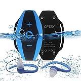 AGPtEK S05 8GB 防水型/水中型 MP3プレーヤー 国際防水等級IPX7 音楽再生 サーフ/水泳/ランニング/スキー等スポーツに通用 お風呂/プール/海等シーンに対応(ブルー)