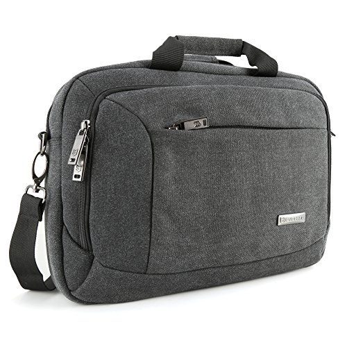 "Evecase 13.3"" 14"" Laptop Business Tela Viaggio Custodia Borsa Messaggero per Acer Apple Asus Dell HP Lenovo Samsung Toshiba Laptop Notebook Chromebook Ultrabook MacBook - Nero"