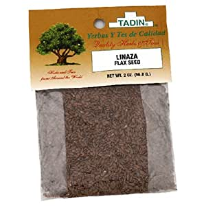 Tadin Herbs & Tea, Linaza (Whole Flax Seed), 2-Ounce Cellophane Bags (Pack of 24)