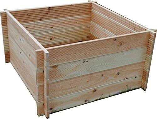 gr nergarten hochbeet gr n m 110 natur 110 x 110 x 60. Black Bedroom Furniture Sets. Home Design Ideas