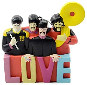 Beatles Sargent Pepper Band Yellow Submarine Love Christmas Tree Ornament