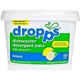 Dropps Dishwasher Detergent Pacs, Lemon, 50 Loads