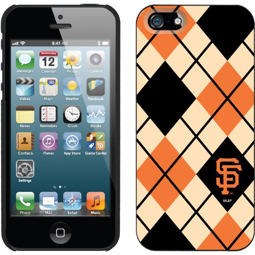 Great Price San Francisco Giants - Argyle design on a Black iPhone 5s / 5 Thinshield Snap-On Case by Coveroo