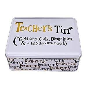 Bright Side Teachers Tin - Gold Stars, Chalk, Energy Drink