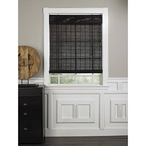Radiance 0108344 Espresso Bamboo Shade Roll Up With Valance Blind 47 Inch Wide By 63 Inch