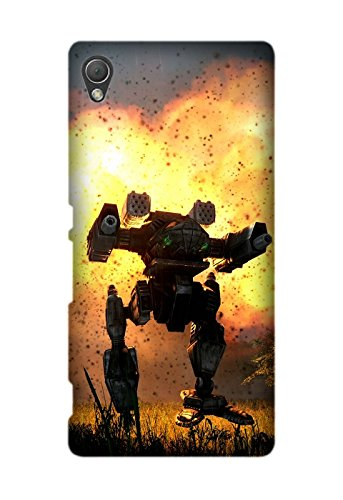 Sony Xperia Z4 Case, Game MechWarrior Pattern Protective Hard Case Cover Fit for Sony Xperia Z4