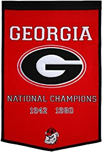 NCAA Georgia Bulldogs Dynasty Banner by Winning Streak