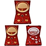 Gold Plated GL Pooja Thali Set 2 Set And Silver Plated Royal Pooja Thali Set With Ganesh Laksmi