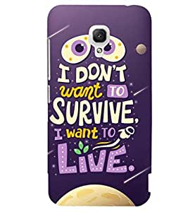 Printvisa Life Quote On A Move Background Back Case Cover for Xiaomi Redmi 2A