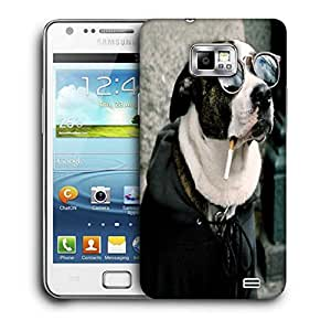 Snoogg Dog Funny Animal Printed Protective Phone Back Case Cover For Samsung Galaxy S2 / S II