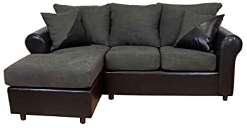 Tim 2-Pc Sectional Sofa in Bulldozer Graphite Fabric