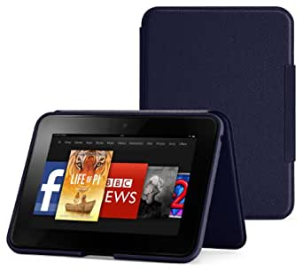 """Amazon Kindle Fire HD 7"""" Standing Leather Cover, Ink Blue (will only fit Kindle Fire HD 7"""" [Previous Generation])"""