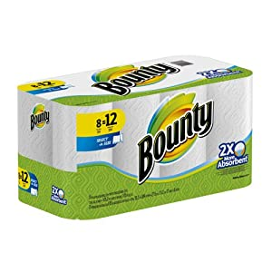Bounty Select-A-Size Paper Towels, White, 8 Giant Rolls, 8 ct by Bounty