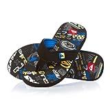 Quiksilver Quilted Cush Flip Flops - Black /white/ Blue