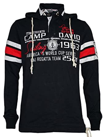 camp david men designer sweater hoodie sailing cup 3. Black Bedroom Furniture Sets. Home Design Ideas