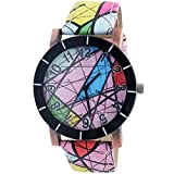 Super Drool Pink Abstract Wrist Watch