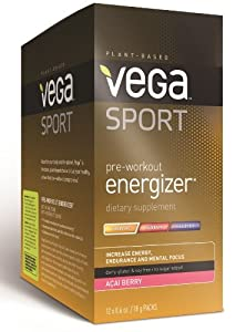 Sport Pre-Workout Energizer, Acai Berry, 12 Count