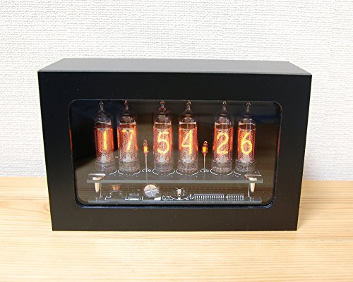 Mat Black IN-16 nixie tube clock ニキシー時計